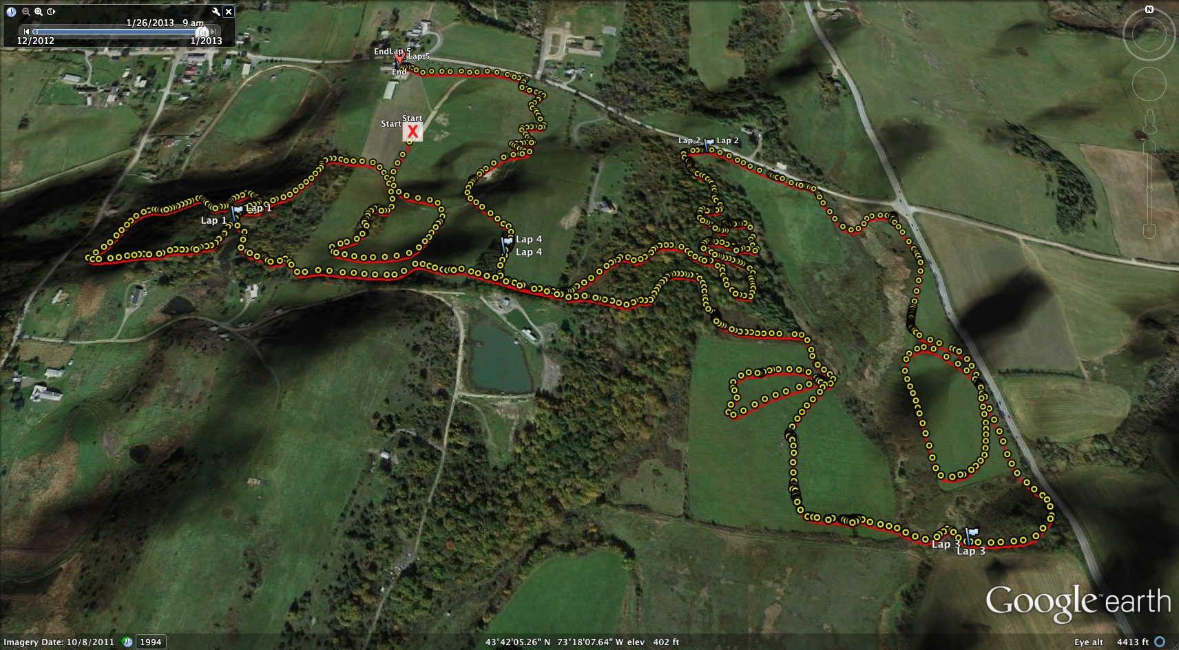 Shale Hill GPS Log