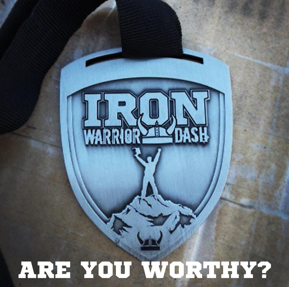 Iron Warrior Dash medal