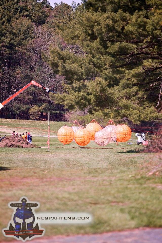 Giant hanging balls