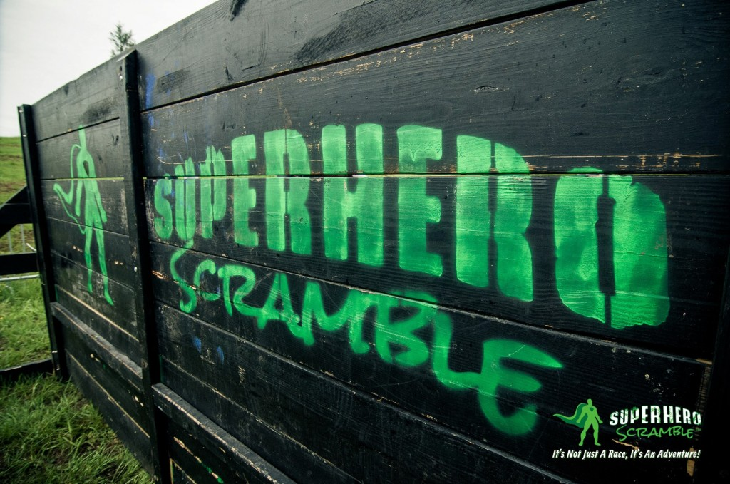 Superhero Scramble wall