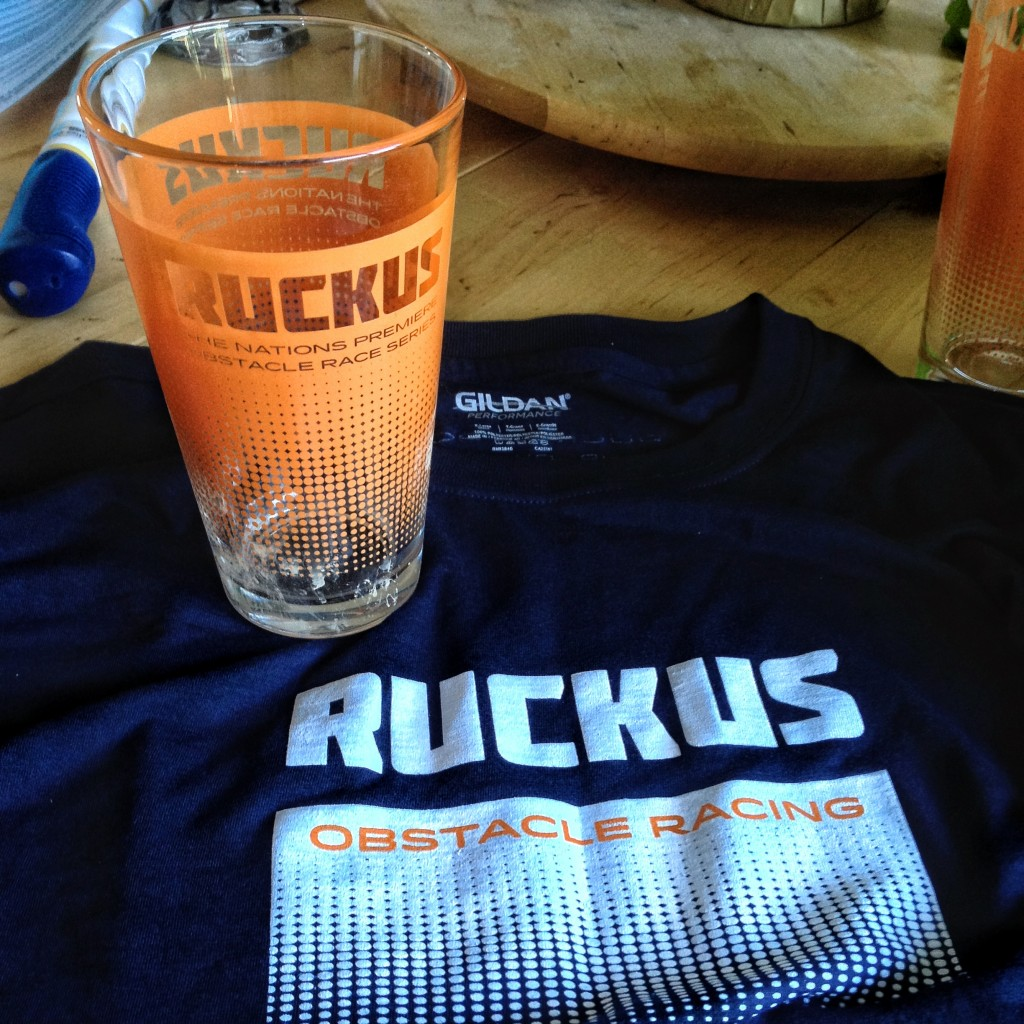 Finishers shirt and pint glass