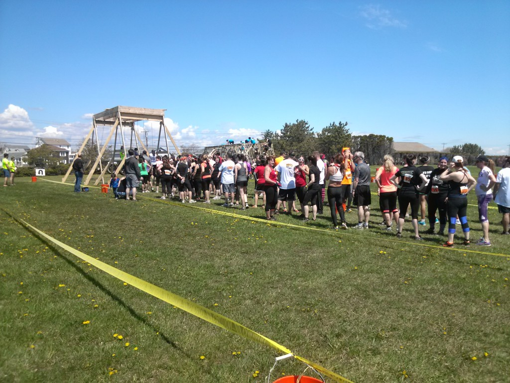 10 minute wait by the time the 10:10 wave reached the last obstacle