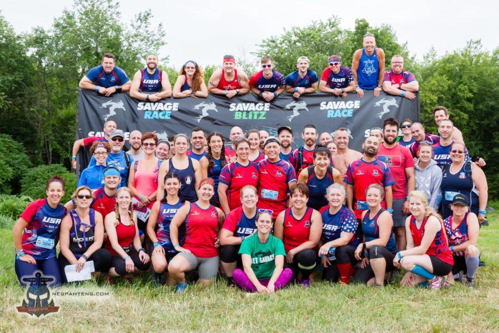 Team photo at Savage Race